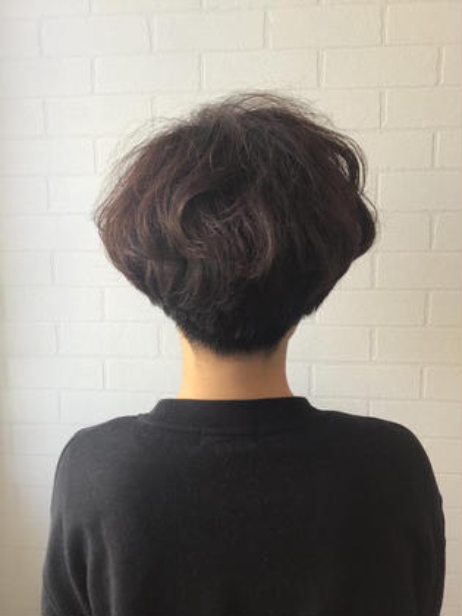 ☆大人可愛いマッシュショート☆ 多毛、クセ毛、硬い髪質でもお任せ下さい!絶対似合うショートにいたしますm(_ _)m Lights  hair所属・静洋輔のスタイル