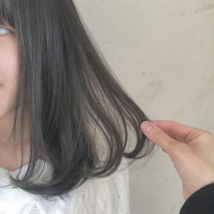 カラー ミディアム 暗髪♡イルミナcolor+TOKIOトリートメント♡暗くしないといけない方におすすめ♡黒染め使ってません。