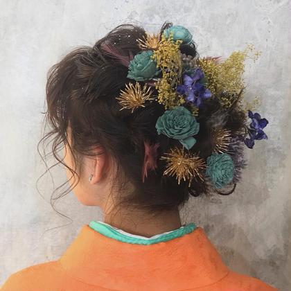 ヘアアレンジ 結婚式、成人式、特別な日のヘアセットは お任せ下さい🦋✨  Instagram✄✄✄yurina___s
