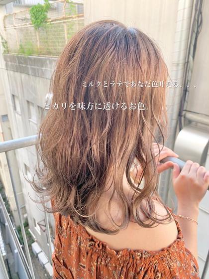 【ブリーチなしで誰もが憧れる透け感カラーの髪色へ】💐選べるあなただけのカラーで透明感、透け感かわいくなろう💐