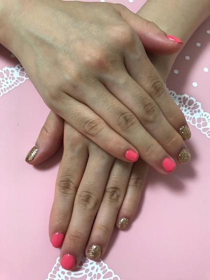 ★ワンカラーネイルモデル★ 色は2色までです ラメok 可愛いピンクゴールドで気分も上がります!!