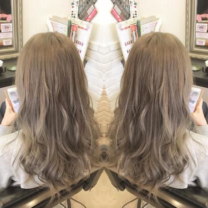 【ミニモ春きゅん】ブリーチカラー&トリートメント 春の透け髪ブリーチカラー