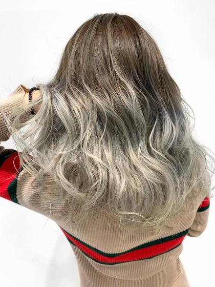 〔今流行りの外国人風hairに近づける〕バレイヤージュカラー&トリートメント