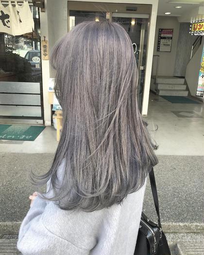 [透明感ハイトーン]☆ケアブリーチ+アディクシーカラー+前処理トリートメント☆