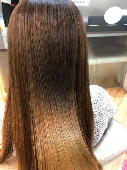 堀越絵梨のロングのヘアスタイル