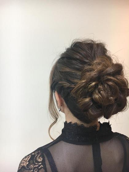 波ウェーブと編み込みのゆるふわヘアセット☆ ブレス布施所属・中元佳穂のスタイル