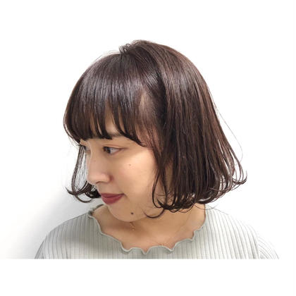 切りっぱなしのかっこいいボブでも、 毛先ワンカールで可愛い雰囲気に♪♪ Utata所属・MasanoAiriのスタイル