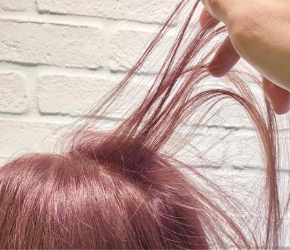 💛丸々ガラッと髪色チェンジ(ケアブリーチ使用)💛ダブルカラー(全頭ブリーチ+オンカラー)+トリートメント 💛