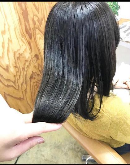 [実習生、就活生応援📣]黒染めじゃないブルーグレージュ😆カット+カラー+FLOWDIAトリートメント