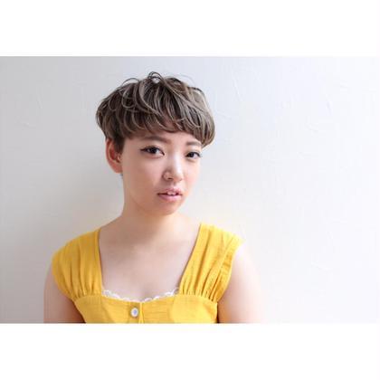 マッシュショート×ハイライト Lycka上飯田所属・内田千晶のスタイル
