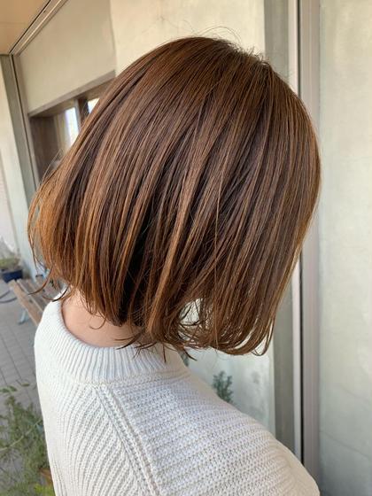 抜け感のあるボブstyle😊  春オススメのミルクティーベージュ🤲 Le blanc hair gallery所属・masa のスタイル