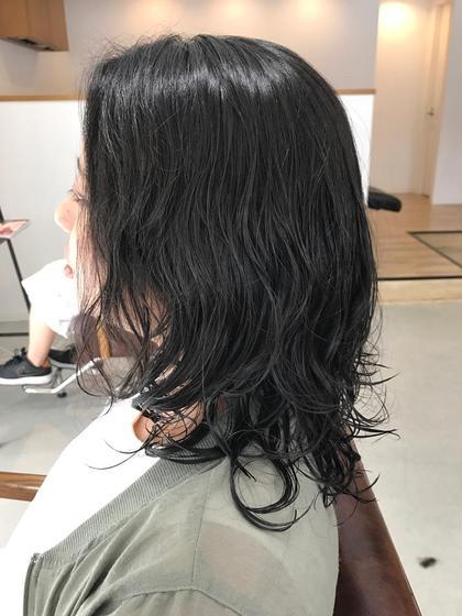 ロング 黒髪ロングゆるふわウェーブ♪