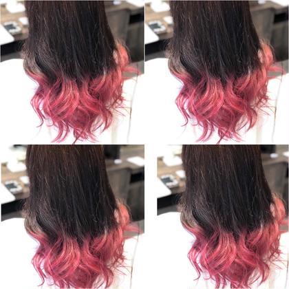 《人気メニュー》グラデーションカラー(中間から毛先をブリーチ1回+好きな色)&ケアブリーチ+トリートメント
