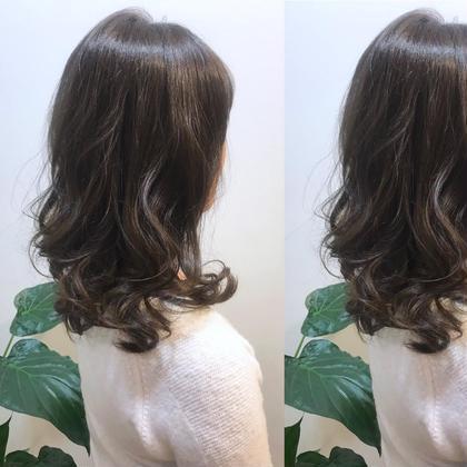 素髪からツヤ‼️極潤セラミドカラー & トリートメント & 炭酸スパ