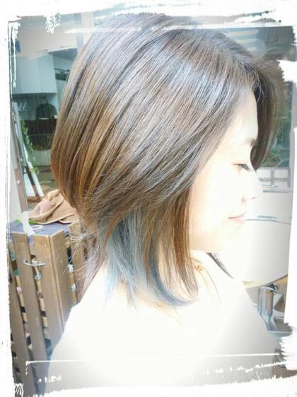 ビターなスモーキーグレイのインナーカラー♪ 美容室 salon de craft所属・澤田拓己のスタイル