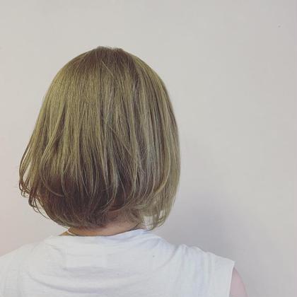 ハイトーンカラー×サンドベージュ P-brands hair kasuga refrain所属・國武 桜のスタイル