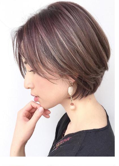 ハイライトモデル募集中 橋川章子のショートのヘアスタイル