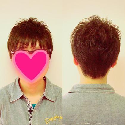 さっぱりショートスタイル☆ 女性ですが短めが好きなので刈り上げてさっぱりと、トップはふんわりするようにカットしました꒰*´∀`*꒱ Chic voice所属・山口真理子のスタイル