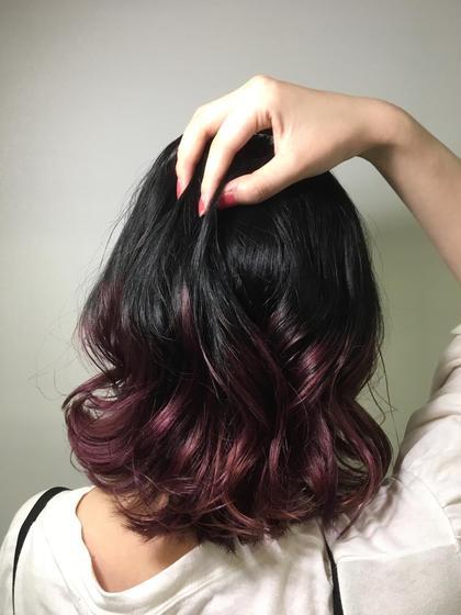 ✂︎ワンレングスカット✂︎で重めスタイル ✂︎パープルグラデーション✂︎ hair&makeup miq所属・今村圭佑のスタイル
