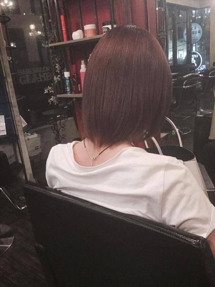 春らしいショートヘアーにピンクベージュカラーです! GLAMBPLUS所属・MASAマサのスタイル