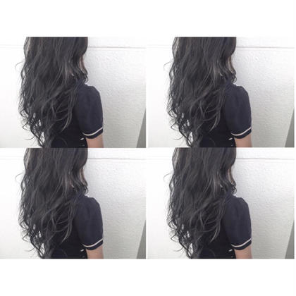 カラー ショート セミロング ミディアム ロング dark gray × white highlight♡