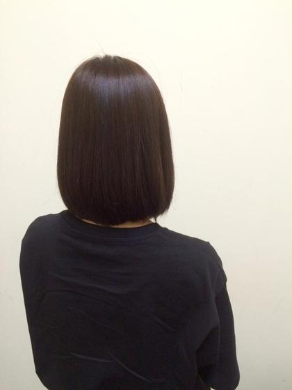 1ヶ月前に黒染めした髪でも大丈夫! このくらいまでなら明るくできます✨ MAGNET HAIR 段原店所属・宮原諒馬のスタイル