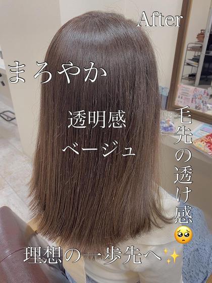 ✨-✄✩.*˚✨【人気】カット&外国人風艶カラー