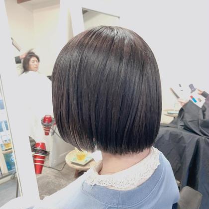 【格安メニュー❤】カット+暗髪透け感カラー+炭酸泉spa♡+トリートメント✨