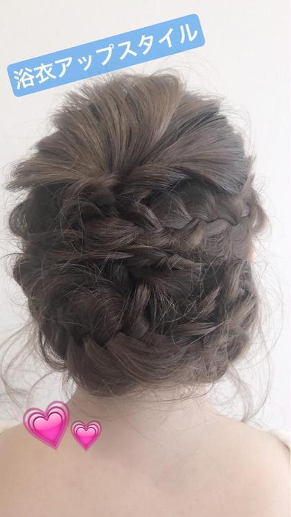 * ヘアセットでご来店 浴衣にぴったりなまとめ髪! * ヘアセット ¥4.320~ bassa  東大和店所属・土屋葵のスタイル