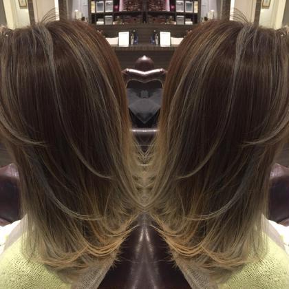 ケアブリーチグラデーション&オンカラー 髪質やブリーチ不足によってできない場合があります