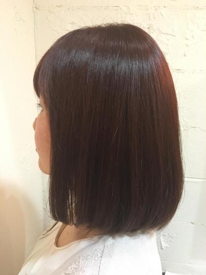 ツヤ重視のレッド系カラー! kokoro hairsalon所属・野村春菜のスタイル
