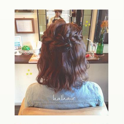 透明感のあるアッシュとふわふわウェーブであみこみアレンジ⋈ chouette HairMake&HeadDress所属・サダハルカのスタイル