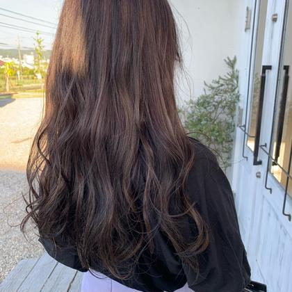 🌈ハイライトで動きのある髪の毛に🌈       カラー+ハイライト(ケアブリーチ)