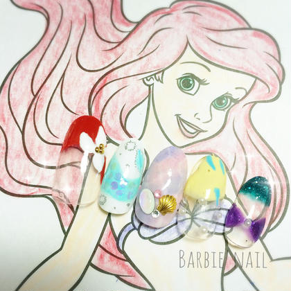 アリエルネイル♡♡ ¥5.500- Barbie所属・澤崎結那のフォト
