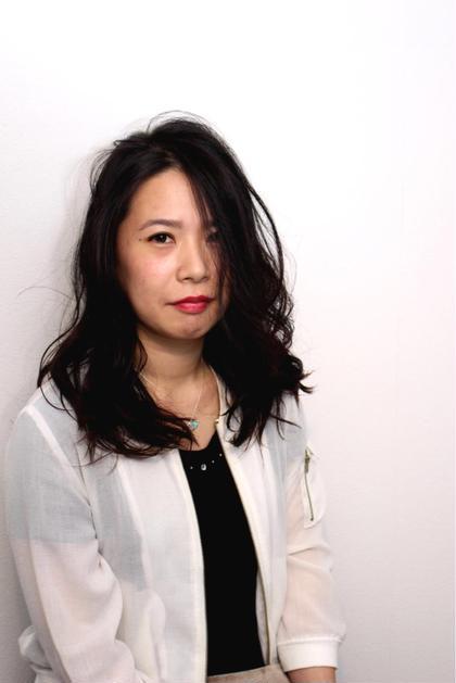 黒髪でも柔らかく裏ミックス巻きデジパ*\(^o^)/* Hair salon Bi-ne所属・甲斐錬也のスタイル