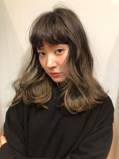 前髪カット🌼ヘアアイロン巻き