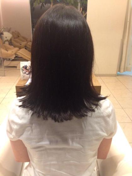 切りっぱなしロブ×黒髪でオシャレに!! SERIO所属・ささきかなのスタイル