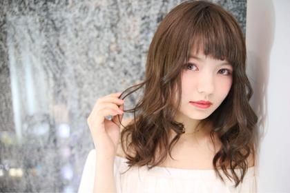 その他 カラー セミロング ヘアアレンジ ミディアム ロング ロゼ リュクス カラー  ¥6000