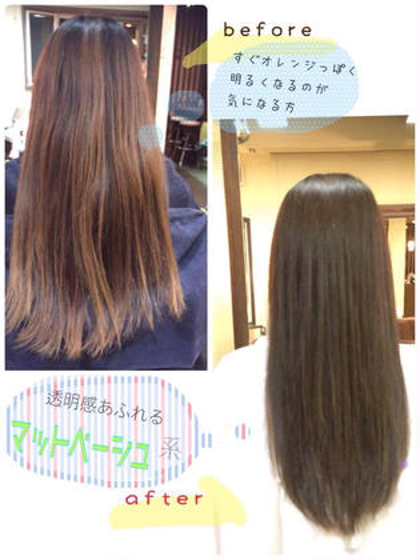 どんなに傷みの 気になる方でも 潤い溢れる仕上がりになる シルクカラー BEL POSTO hair所属・吉岩佳亮のスタイル