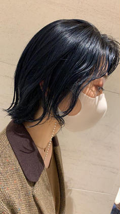 根元が伸びても気にならない❣️トーンダウンor黒染め+トリートメント+前髪カットサービス🥰