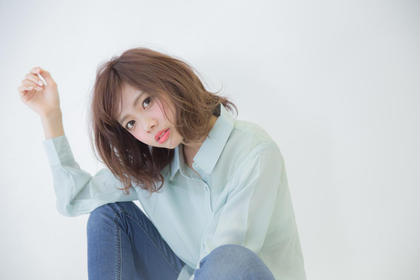 ミディアム 【透明感×赤味OFF】[アディクシー]グリーンパールアッシュ