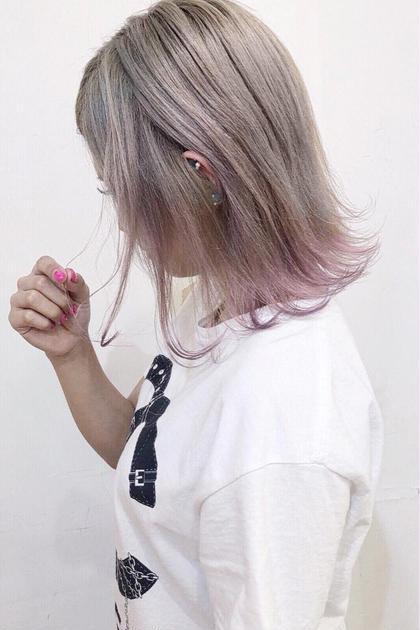 カラー ミディアム 裾カラー ⭐︎photo  担当スタイリスト  AKI☆⭐︎ ⭐︎instagram →  @aki.0218⭐︎
