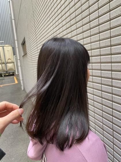 カラー+前髪カット+炭酸スパ