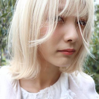 【💖🐮ブリーチメニュー🐮💖】💛💛ケアブリーチダブルカラー+髪質改善2Stepスチームトリートメント💛