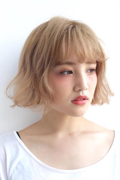 ✔️【ファイバープレックス使用】ハイWブリーチ_(ケアブリーチ2回+カラー)
