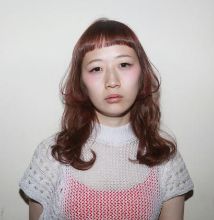 フロント、顔まわりをポイントにピンクパープルで可愛いさしさをプラス☆ tranq hair design所属・イケベミホのスタイル