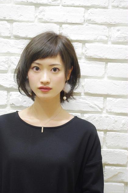 ショートバング 松田光雄のミディアムのヘアスタイル