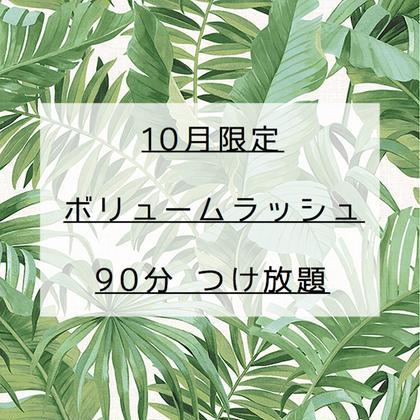 【 10月限定 】ボリュームラッシュ90分つけ放題