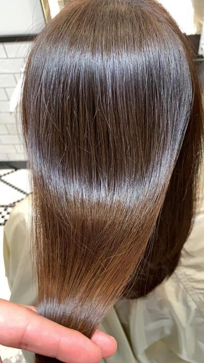 ⚠️梅雨前に⚠️イチオシ!今話題の髪質改善ストレート‼️パキッとならず、素髪の様な自然な仕上がりになります◎
