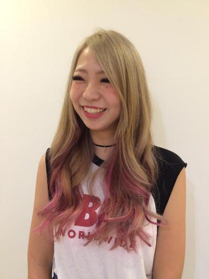 アッシュ〜ピンクのグラデーション♪ KALEIDO所属・岩本正秀のスタイル